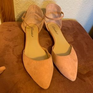 Blush pink ballerina sandals!